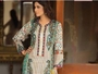 Viscose 3pc Suit Silk Embroidery (white and brown)