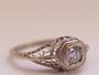 Item #002fbbr | Pre-Set Antique Filigree Victorian Engagement Ring