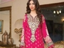 Viscose 3pc Suit Silk Embroidery (hot pink)