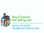 Any Creature Pet Sitting