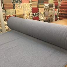 Heather Blue Melton Wool Fabric
