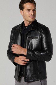 Bernie Classic Men's Black Leather Jacket