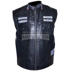 Sons Of Anarchy Leather Vest Jacket