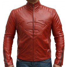 Red Superman Smallville Pure Leather Jacket