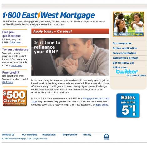 1-800 East West Mortgage