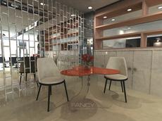 CORASINI GLASS DINING TABLE