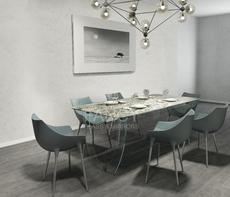 VENUS GLASS DINING TABLE