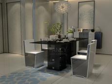 PRINTEMP GLASS DINING TABLE