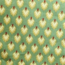 Furniture Fabric cover with Antique Forest Green Tan