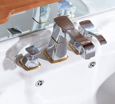 Finished Three-pieces Pull Down Mixer Bathroom Sink Tap TC396P