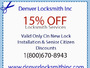Denver Automobile Locksmith Services