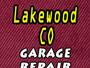 Lakewood CO Garage Repair
